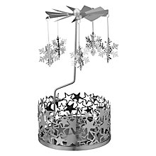 Buy Anglaspel Star Carousel Tealight Holder, Silver Online at johnlewis.com