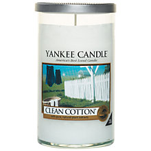 Buy Yankee Clean Cotton Scented Candle, Medium Online at johnlewis.com