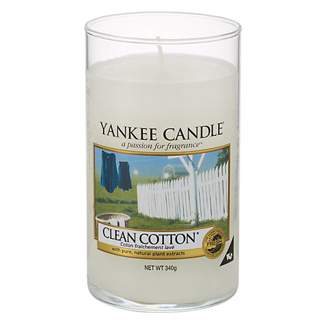 Buy Yankee Candle Clean Cotton Scented Candle, Medium Online at johnlewis.com