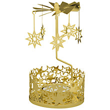 Buy Anglaspel Star Carousel Tealight Holder, Gold Online at johnlewis.com