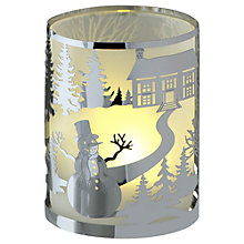 Buy Anglaspel Snowman Tealight Holder, Silver Online at johnlewis.com