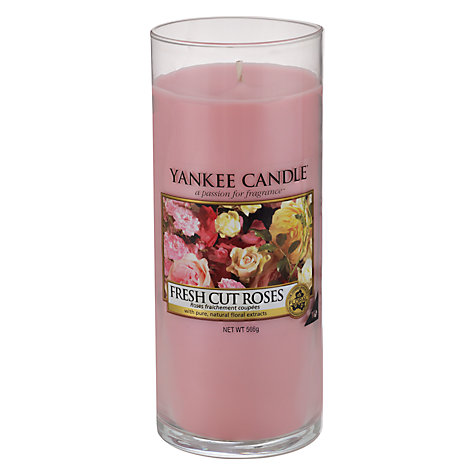 Buy Yankee Candle Fresh Roses Scented Candle, Large Online at johnlewis.com