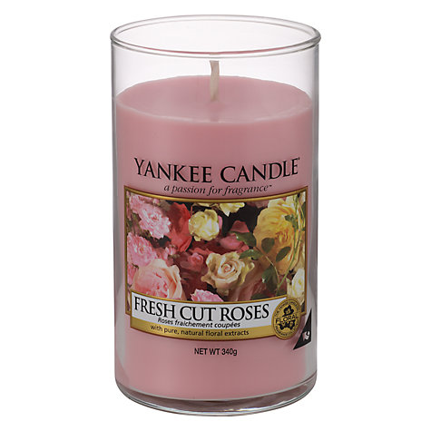 Buy Yankee Candle Fresh Roses Scented Candle, Medium Online at johnlewis.com