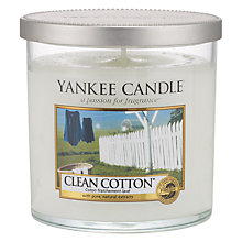 Buy Yankee Clean Cotton Scented Candle, Small Online at johnlewis.com