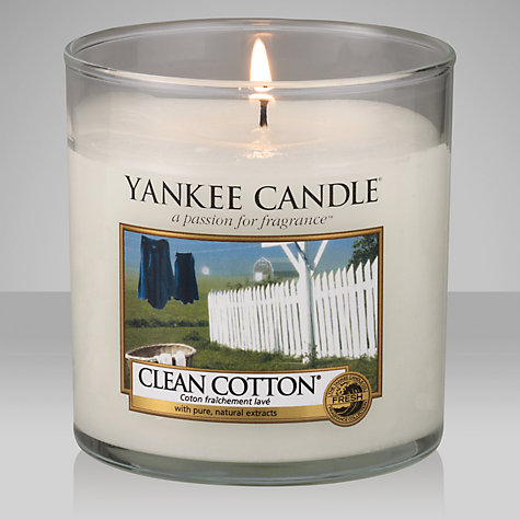 Buy Yankee Candle Clean Cotton Scented Candle, Small Online at johnlewis.com