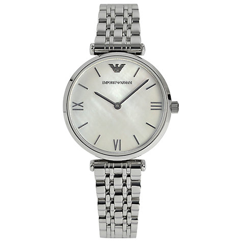Buy Emporio Armani AR1682 Women's Gianni Stainless Steel Bracelet Watch Online at johnlewis.com