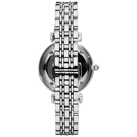 Buy Emporio Armani AR1682 Women's Gianni Stainless Steel Bracelet Strap Watch, Silver Online at johnlewis.com