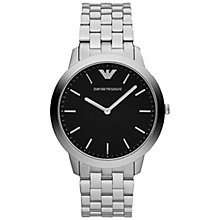 Buy Emporio Armani AR1744 Men's Dino Stainless Steel Bracelet Watch, Black Online at johnlewis.com