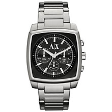 Buy Armani Exchange AX2253 Men's Stainless Steel Chronograph Watch, Black / Grey Online at johnlewis.com