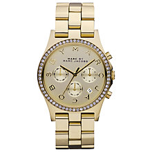 Buy Marc by Marc Jacobs MBM3105 Women's Henry Chronograph Watch, Gold Online at johnlewis.com