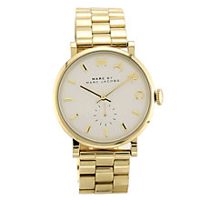 Buy Marc by Marc Jacobs MBM3243 Women's Baker Bracelet Strap Watch, Gold Online at johnlewis.com