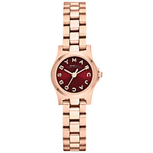 Buy Marc by Marc Jacobs MBM3256 Women's Dinky Henry Bracelet Strap Watch, Rose Gold / Maroon Online at johnlewis.com