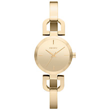 Buy DKNY NY8870 Women's D-Link Half Bangle Watch, Gold Online at johnlewis.com