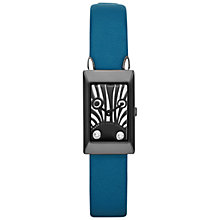 Buy Marc by Marc Jacobs MBM2051 Zebra Critter Leather Strap Rectangular Watch, Teal Online at johnlewis.com