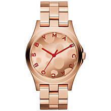 Buy Marc by Marc Jacobs MMB3268 Women's Polka Dial Stainless Steel Watch, Rose Gold / Red Online at johnlewis.com