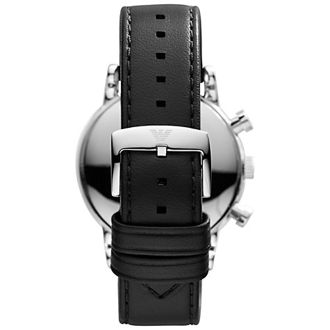 Buy Emporio Armani Men's Leather Strap Watch Online at johnlewis.com