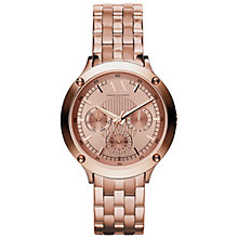 Buy Armani Exchange Women's Chronograph Two Tone Bracelet Watch Online at johnlewis.com