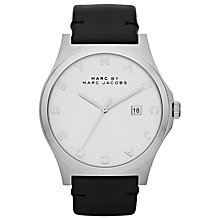 Buy Marc by Marc Jacobs Unisex Stainless Steel Leather Strap Watch Online at johnlewis.com