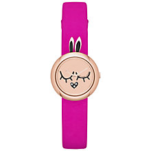 Buy Marc by Marc Jacobs MBM2051 Katie Bunny Critter Leather Strap Watch, Pink Online at johnlewis.com