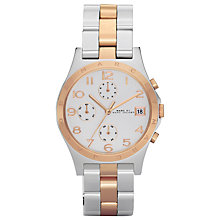 Buy Marc by Marc Jacobs MBM3070 Henry Two-Tone Chronograph Watch, Silver / Rose Gold Online at johnlewis.com
