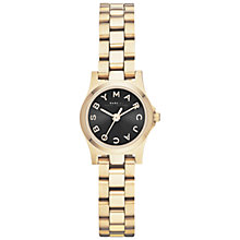 Buy Marc by Marc Jacobs MBM3257 Women's Dinky Henry Bracelet Strap Watch, Black / Gold Online at johnlewis.com