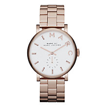 Buy Marc by Marc Jacobs MBM3244 Baker Stainless Steel Bracelet Watch, Rose Gold Online at johnlewis.com