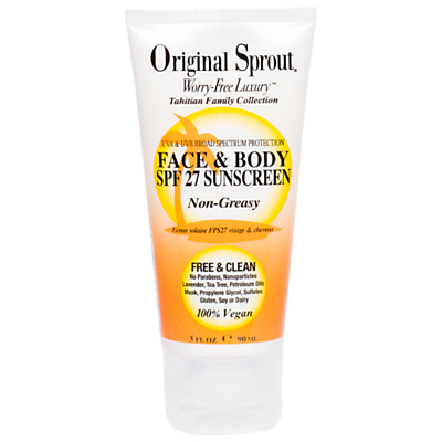Original Sprout Face and Body SPF 27 Sunscreen