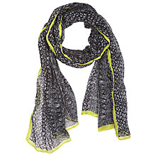 Buy Betty Barclay Cable Print Scarf, Grey/Green Online at johnlewis.com