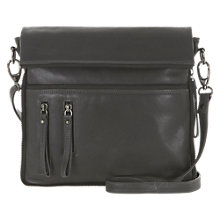 Buy Mint Velvet Double Zip Across Body Leather Handbag, Grey Online at johnlewis.com