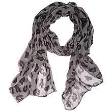 Buy Betty Barclay Animal Print Scarf, Grey/Black Online at johnlewis.com
