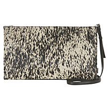 Buy Mint Velvet Faux Pony Skin Clutch Handbag, Black Online at johnlewis.com