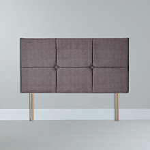 Buy Silentnight Squares Headboard, Grey, Double Online at johnlewis.com