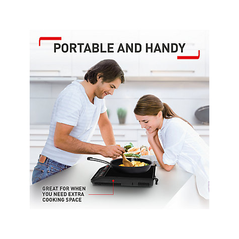 Buy Tefal IH201840 Everyday Portable Induction Hob Online at johnlewis.com