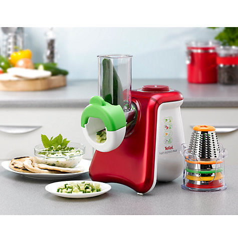Buy Tefal MB810540 Fresh Express Max Chopper & Grater, White/Red Online at johnlewis.com