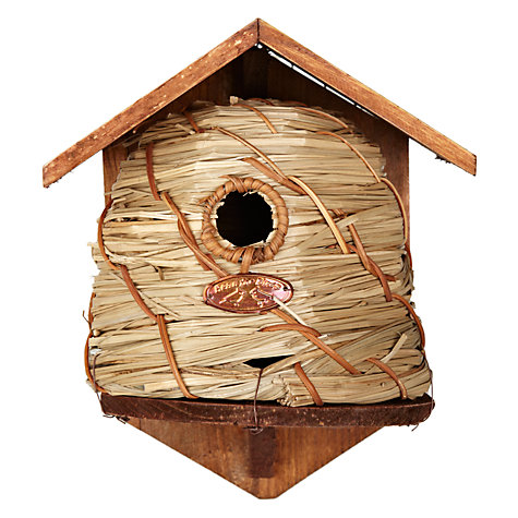 Buy Fallen Fruits Seagrass and Willow Bird House Online at johnlewis.com