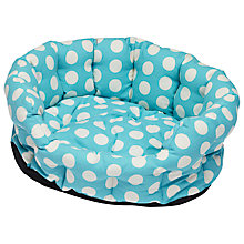 Buy Cath Kidston Big Spot Pet Bed, Turquoise Online at johnlewis.com