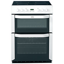 Buy Belling FSE60DOP Electric Cooker, White Online at johnlewis.com