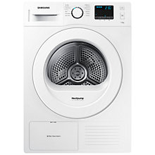 Buy Samsung DV70F5E0HGW Heat Pump Condenser Tumble Dryer, 7kg Load, A++ Energy Rating, White Online at johnlewis.com
