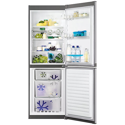 Buy Zanussi ZRB32212XA Fridge Freezer, A+ Energy Rating, 60cm Wide, Silver Online at johnlewis.com