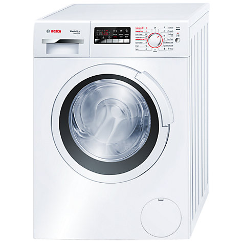 Buy Bosch Exxcel WVH28360GB Washer Dryer, 7kg Wash/4kg Dry Load, B Energy Rating, 1400rpm Spin, White Online at johnlewis.com