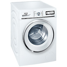Buy Siemens WM14Y590GB Washing Machine, 8kg Load, A+++ Energy Rating, 1400rpm Spin Speed, White Online at johnlewis.com