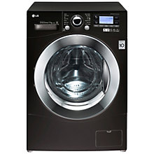 Buy LG F1495KD6 Freestanding Washing Machine, 11kg Load, A+++ Energy Rating, 1400rpm Spin, Black Online at johnlewis.com