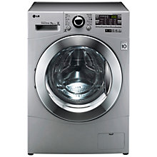 Buy LG F14A8TDA5 Freestanding Washing Machine, 8kg Load, A+++ Energy Rating, 1400rpm Spin, Silver Online at johnlewis.com