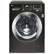 Buy LG F12A8TDA6 Washing Machine, 8kg Load, A+++ Energy Rating, 1200rpm Spin, Black Online at johnlewis.com
