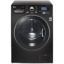 Buy LG F14A7FDSA6 TrueSteam™ Washing Machine, 9kg Load, A+++ Energy Rating, 1400rpm Spin, Black Online at johnlewis.com