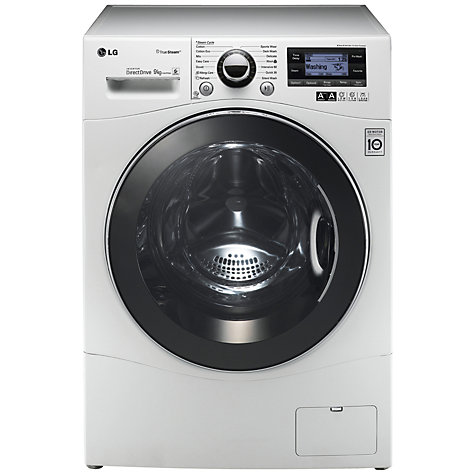 Buy LG F14A7FDSA TrueSteam™ Washing Machine, 9kg Load, A+++ Energy Rating, 1400rpm Spin, White Online at johnlewis.com