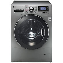 Buy LG F14A7FDSA5 TrueSteam™ Freestanding Washing Machine, 9kg Load, A+++ Energy Rating, 1400rpm Spin, Silver Online at johnlewis.com