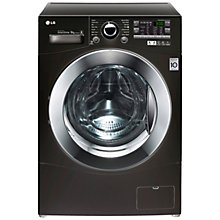 Buy LG F14A8FDA6 Washing Machine, 9kg Load, A+++ Energy Rating, 1400rpm Spin, Black Online at johnlewis.com