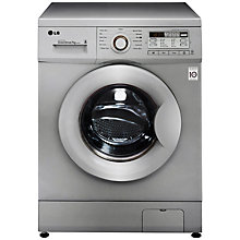 Buy LG F14B8QDA5 Washing Machine, 7kg Load, A+++ Energy Rating, 1400rpm Spin, Silver Online at johnlewis.com