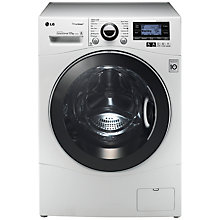 Buy LG F1495BDSA TrueSteam™ Freestanding Washing Machine, 12kg Load, A+++ Energy Rating, 1400rpm Spin, White Online at johnlewis.com